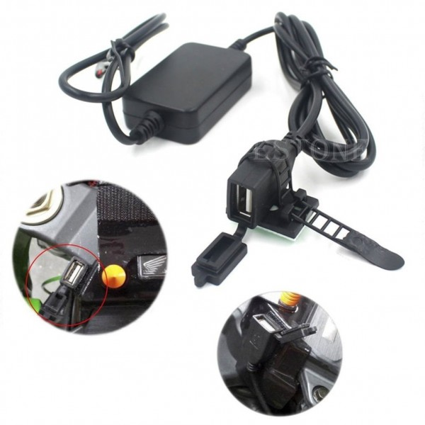 LX-UPC02 Motorcycle USB Charger with Dual Port Splitter