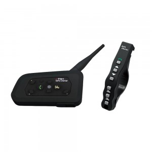 LX-A4 Bluetooth Motorcycle Helmet Communicator Headset, Intercom up to 4 Riders, 1200 Meter Range, with Remote Control