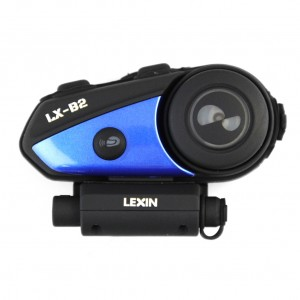 LX-B2 MotoFõn Bluetooth Motorcycle Helmet Intercom Headset, Motorbike Communication System for Solo Rider!